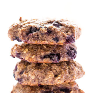 Blueberry Muffin Quinoa Breakfast Cookies.
