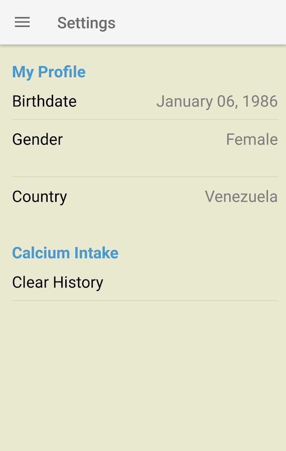 IOF Calcium Calculator- screenshot