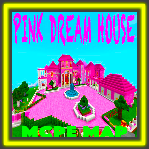 Pink Dream House Princess map for MCPE Mine