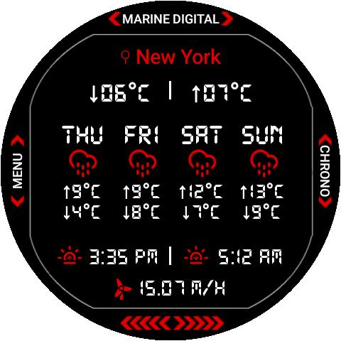 Marine Digital 2 Watch Face & Clock Live Wallpaper 1.07 screenshots 17