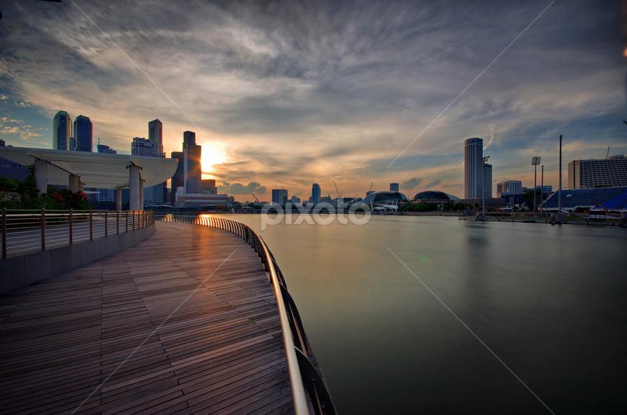 MBS Walkway by Ken Goh - City,  Street & Park  City Parks
