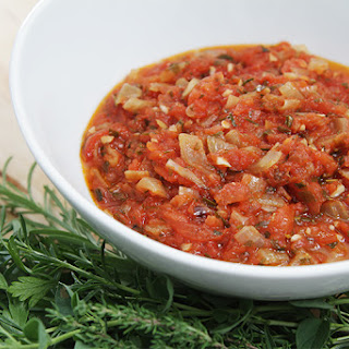 Summer Tomato Sauce With Sweet Onions And Fresh Herbs