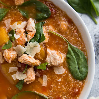 Turkey, Pumpkin and Quinoa Slow Cooker Soup