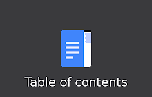 Table of contents - Google Docs add-on