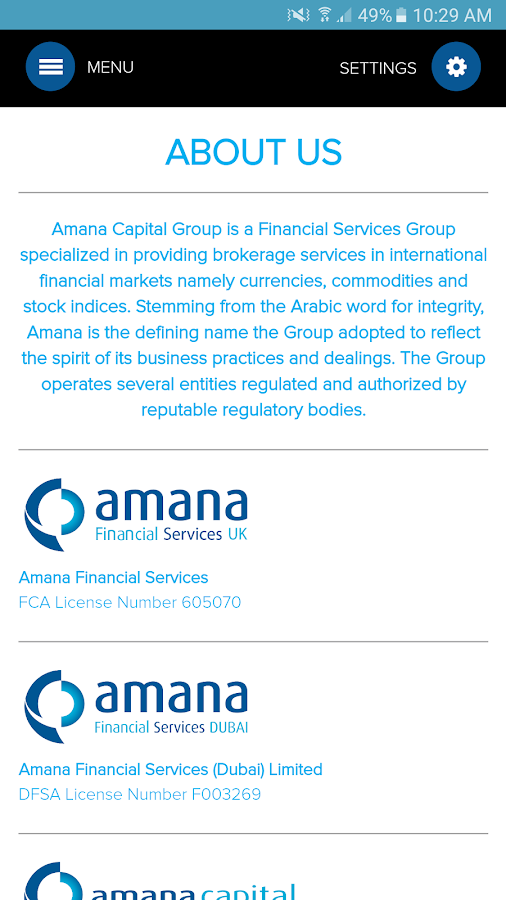 AmanaCapital- screenshot