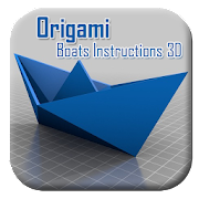 Origami Boats Instructions 3D - Step by step