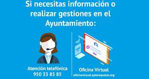 Cartel informativo elaborado por el Ayuntamiento de Roquetas.