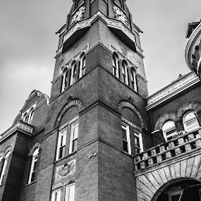 Parsons Courthouse by Chris Reynolds - Black & White Buildings & Architecture ( nikon, b&w, parsons wv, tucker county, west virginia )