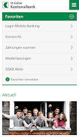Screenshot of SGKB