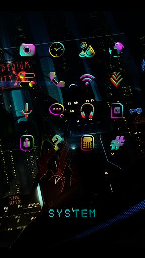 Download CYBERPUNK Neon Icon Pack MOD APK 2