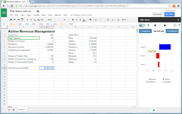 Risk solver google sheets add on ccuart Images