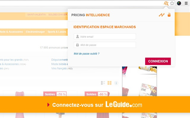 Price Intelligence by LeGuide chrome extension