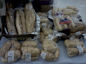 Photo: Over on the bakery side I grabbed the french bread on our list. We will turn it into garlic french bread for dinner.