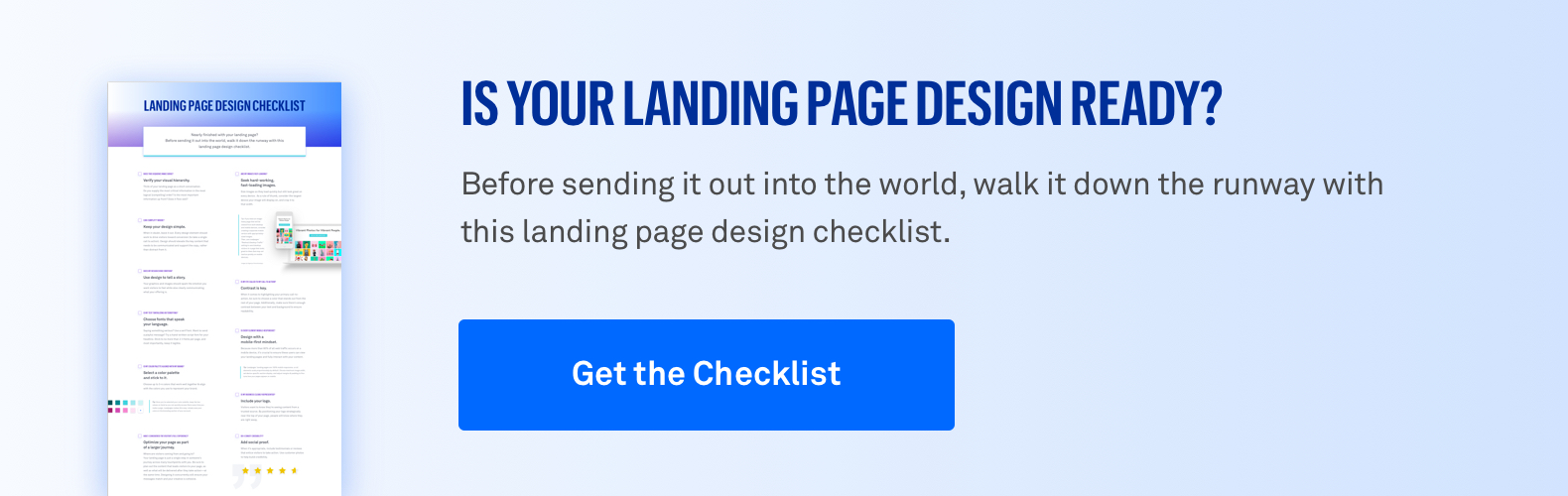 Get the Landing Page Design Checklist