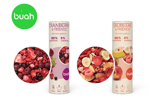 Bild für Cashback-Angebot: Buah Cranberry & Friends oder Erdbeere & Friends - Buah