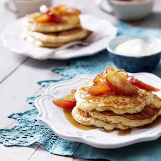 Buttermilk Pancakes with Sautéed Apples.