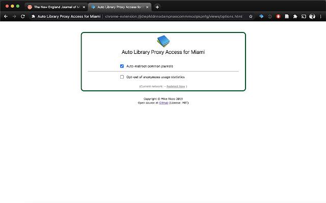 Auto Library Proxy Access for Miami