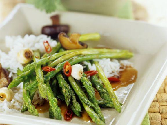 Oriental Asparagus Stir-Fry Recipe