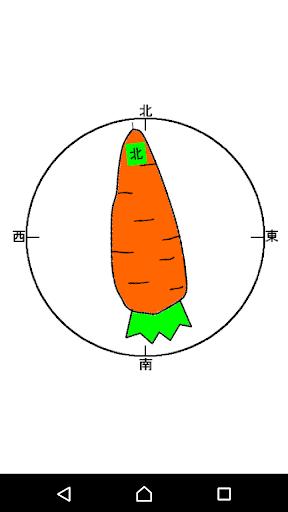 方位磁針(にんじん)