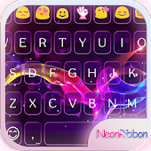Neon Ribbon Emoji Keyboard