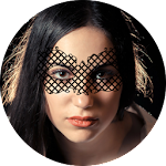 Black Lace Face Mask Icon