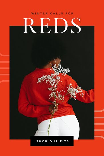 Red Winter Fits - Pinterest Pin Template