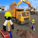 Stickman City Construction Excavator icon
