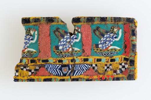 Inlay fragment, rekhyt birds