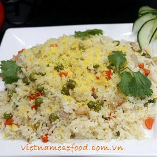Fried Rice with Multi Color Recipe (Cơm Rang Đủ Sắc)