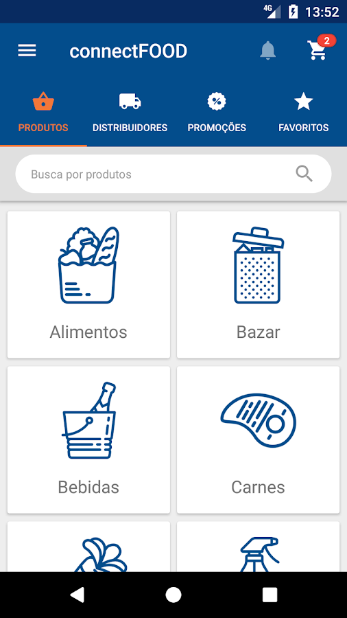 connect FOOD: captura de tela