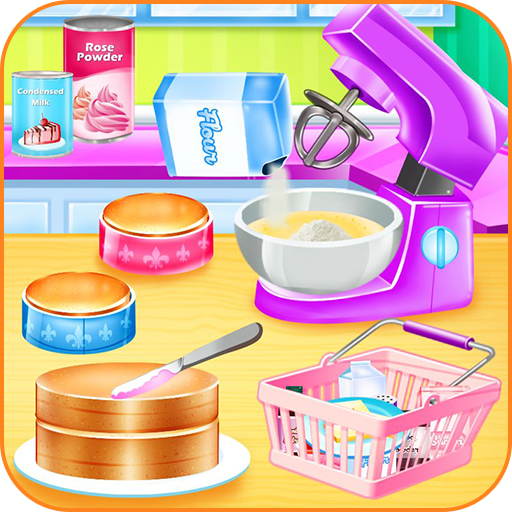 Cooking cake bakery shop Icon