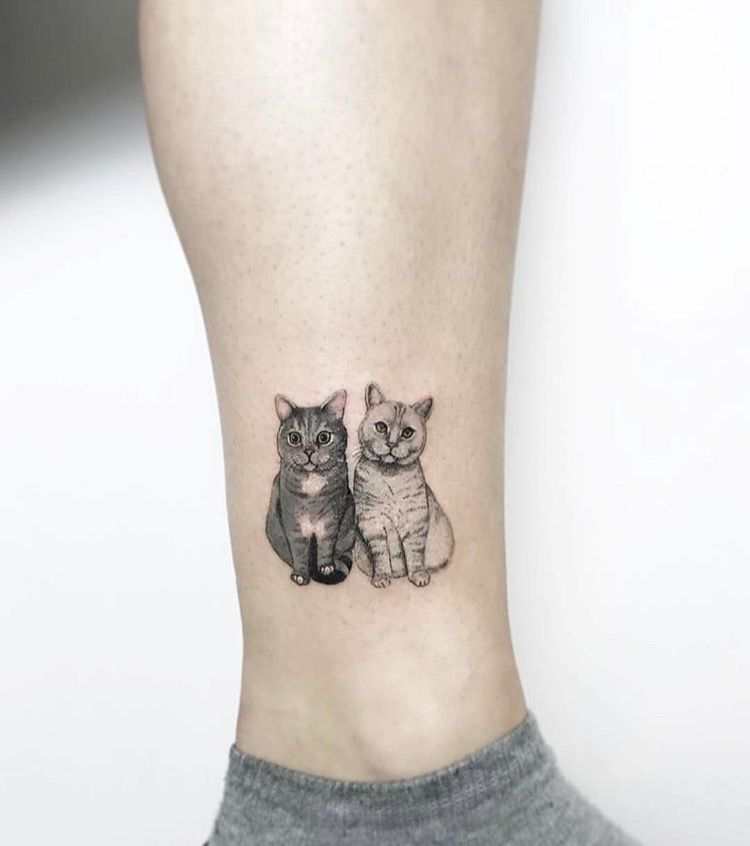 ลายสักแมวเล็กๆ2