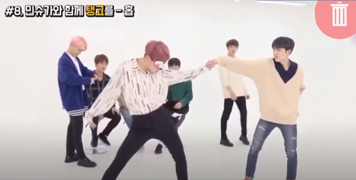 Suga and jhope dancing together