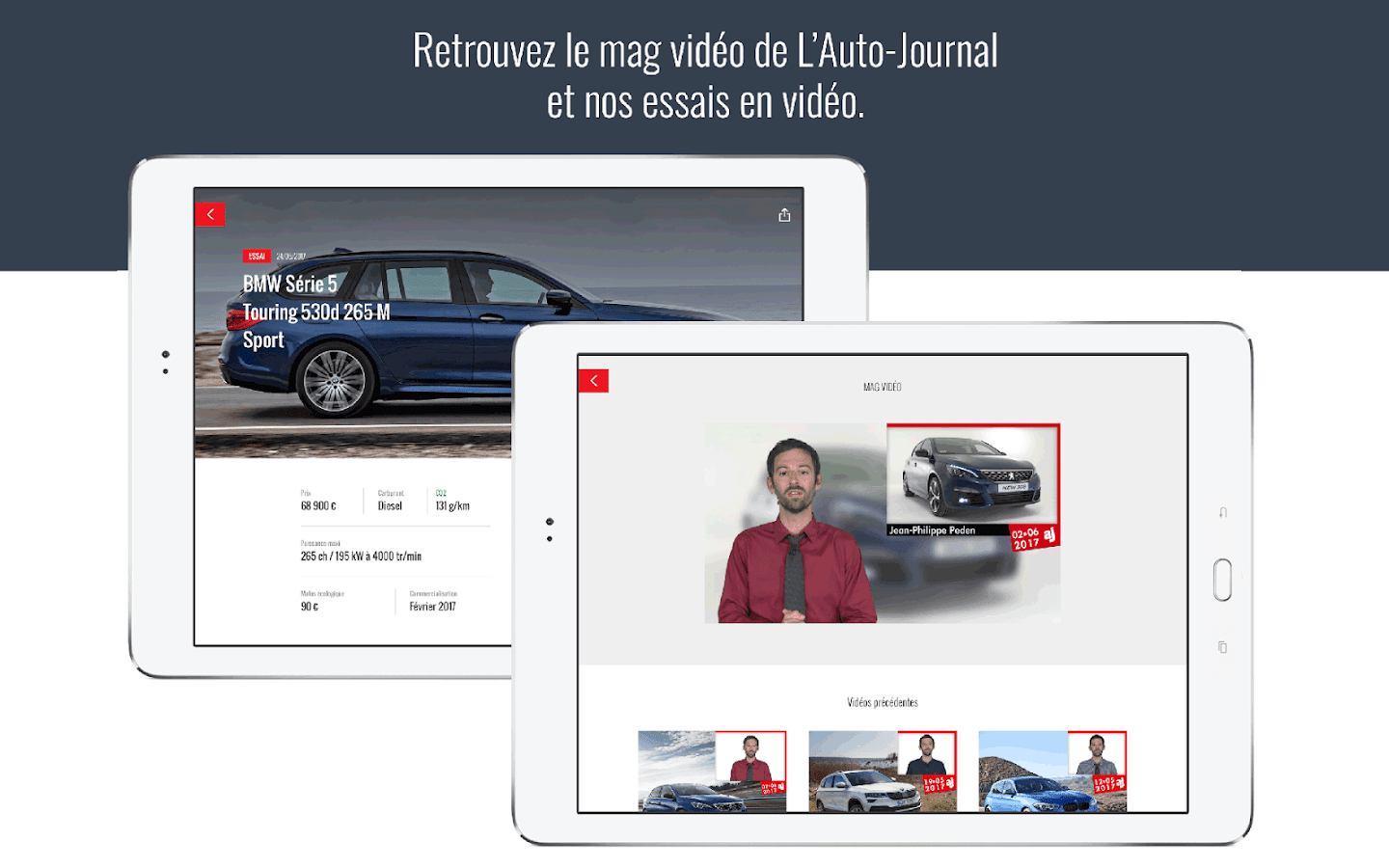 Auto Journal – Capture d'écran