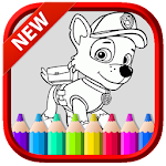 Art PAW Coloring Book Patrol and Friends Icon