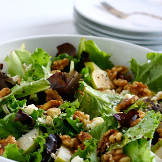 Pear Salad with Walnuts and Feta.
