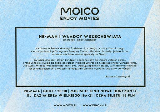 Tył ulotki filmu 'He-Man i Władcy Wszechświata'