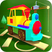 Play & Create Your Town - Free Kids Toy Train Game