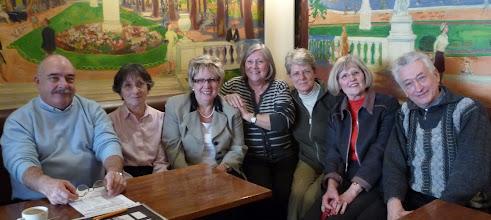 Photo: meeting du bureau ARLF au Café Tournon, février 2010