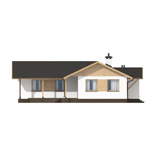 D10 - Iwona wersja drewniana - Elewacja lewa