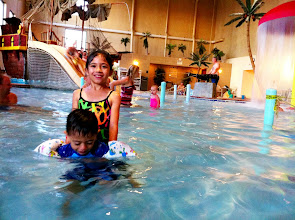 """Photo: What really made this the keikis """"best day ever""""? No doubt the giant water park at the hotel"""