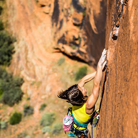 Commitment by Ryan Skeers - Sports & Fitness Climbing ( girls, rock climbing, climbing, girls climbing, richness of it all )
