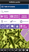 Screenshot of Antibiotics pocket