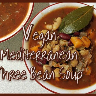 Vegan Mediterranean Three Bean Soup