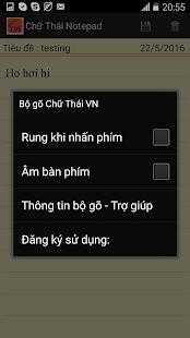 Bàn phím chữ Thái Việt Nam- hình thu nhỏ ảnh chụp màn hình