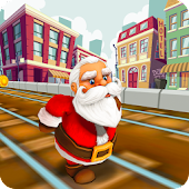 Santa Claus Gold Run for Christmas Gifts