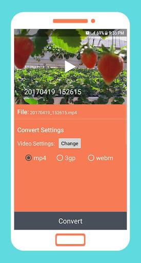 to mp4 3gp webm video converter app screenshot 2