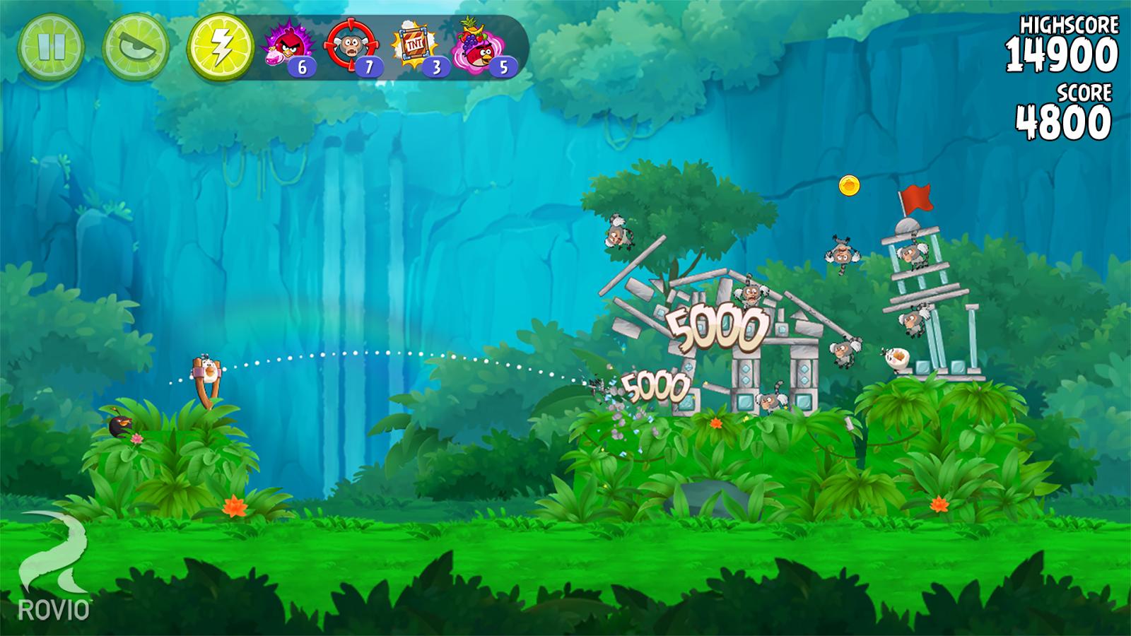 Angry Birds Rio: captura de pantalla