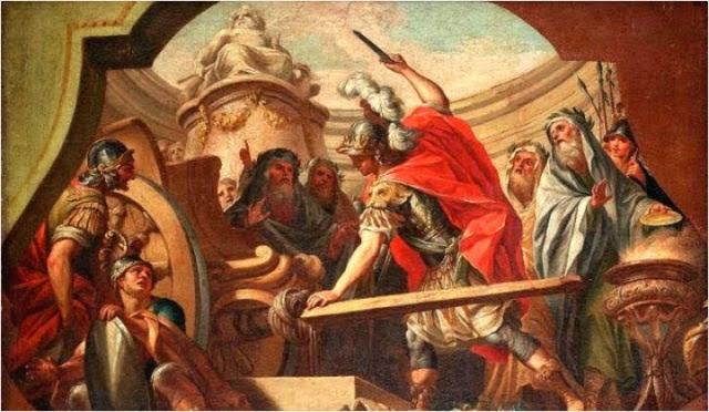Alejandro Magno corta el nudo gordiano