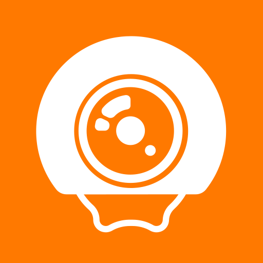 Orange Live Cam Icon